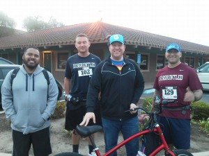 Left to right, Josue, Me, John Flores, Mike Flores. Mike and I as the runners, John and Josue as support crew